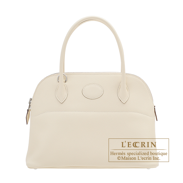 Bolide bag 27 Nata Epsom leather Silver hardware
