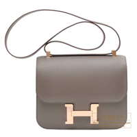Hermes Constance 24 Etain Epsom leather Rose gold hardware