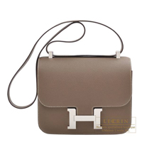 Hermes Constance 24 Etoupe grey Epsom leather Silver hardware