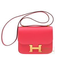 Hermes Constance mini Rose extreme Epsom leather Gold hardware