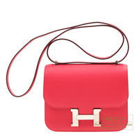 Hermes Constance mini Rose extreme Epsom leather Silver hardware