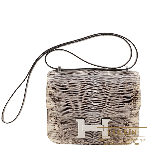 Hermes Constance mini Ombre Natural lizard skin Silver hardware
