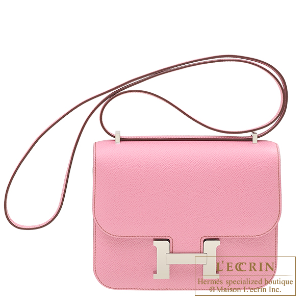 Constance mini Pink Epsom leather Silver hardware