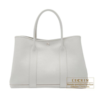 Hermes Garden Party bag PM Pearl grey Fjord leather Silver hardware