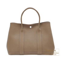 Hermes Garden Party bag PM Toundra Negonda leather Silver hardware
