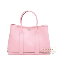 Hermes Garden Party bag TPM Rose sakura Country leather Silver hardware