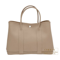 Hermes Garden Party bag PM Gris tourterelle Country leather Silver hardware