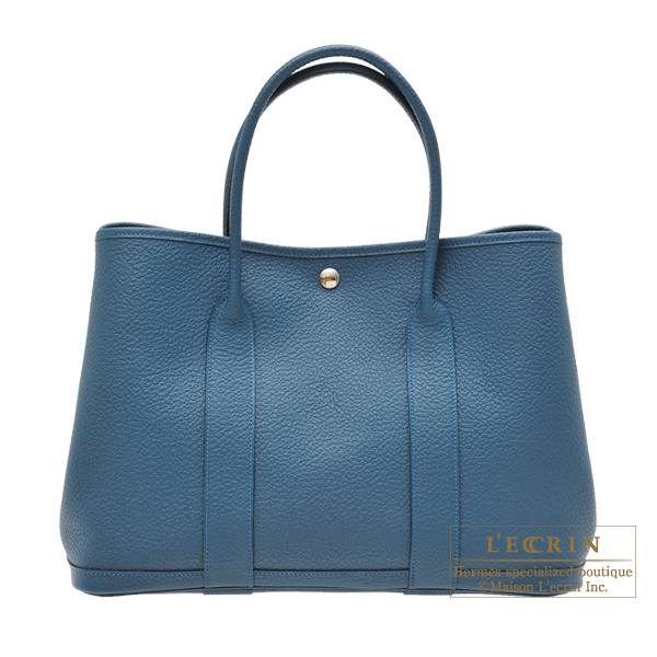 Hermes Garden Party bag PM Quadrige Colvert Country leather Silver hardware
