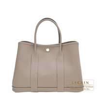 Hermes Garden Party bag TPM Gris asphalt Country leather Silver hardware