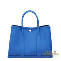 Hermes Garden Party bag TPM Blue zellige Country leather Silver hardware
