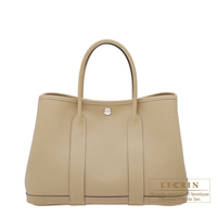 Hermes Garden Party bag TPM Trench Country leather Silver hardware
