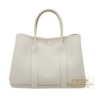 Hermes Garden Party bag PM Beton Negonda leather Silver hardware