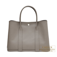 Hermes Garden Party bag PM Etain Epsom leather Silver hardware