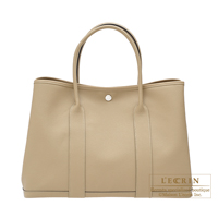 Hermes Garden Party bag PM Trench Epsom leather Silver hardware