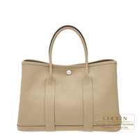 Hermes Garden Party bag TPM Trench Epsom leather Silver hardware