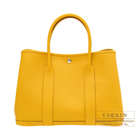 Hermes Garden Party bag PM Jaune ambre Country leather Silver hardware