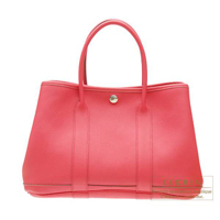 Hermes Garden Party bag PM Bougainvillier Negonda leather Silver hardware