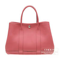 Hermes Garden Party bag PM Bois de rose Fjord leather Silver hardware