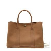 Hermes Garden Party bag TPM Alezan Cotton canvas Silver hardware