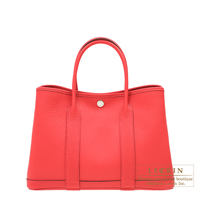 Hermes Garden Party bag TPM Bougainvillier Negonda leather Silver hardware