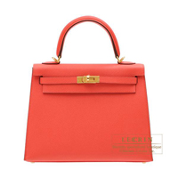 Hermes Kelly bag 25 Sellier Rose jaipur Epsom leather Gold hardware