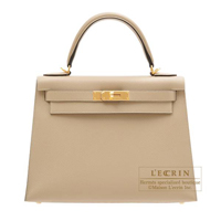 Hermes Kelly bag 28 Sellier Trench Epsom leather Gold hardware