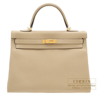 Hermes Kelly bag 35 Retourne Trench Togo leather Gold hardware