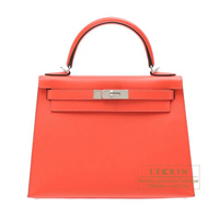 Hermes Kelly bag 28 Sellier Rose jaipur Epsom leather Silver hardware