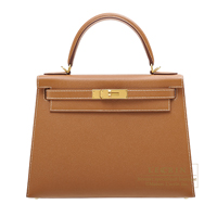 Hermes Kelly bag 28 Sellier Gold Epsom leather Gold hardware