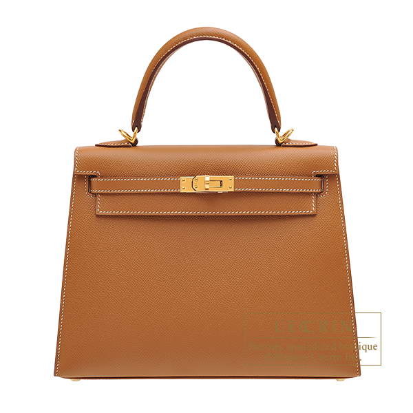 Hermes Kelly bag 25 Sellier Gold Epsom leather Gold hardware