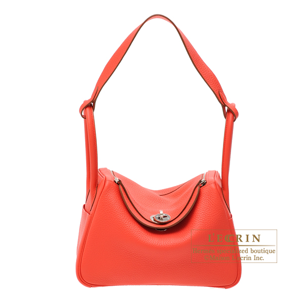 Hermes Lindy bag 26 Rose jaipur Clemence leather Silver hardware