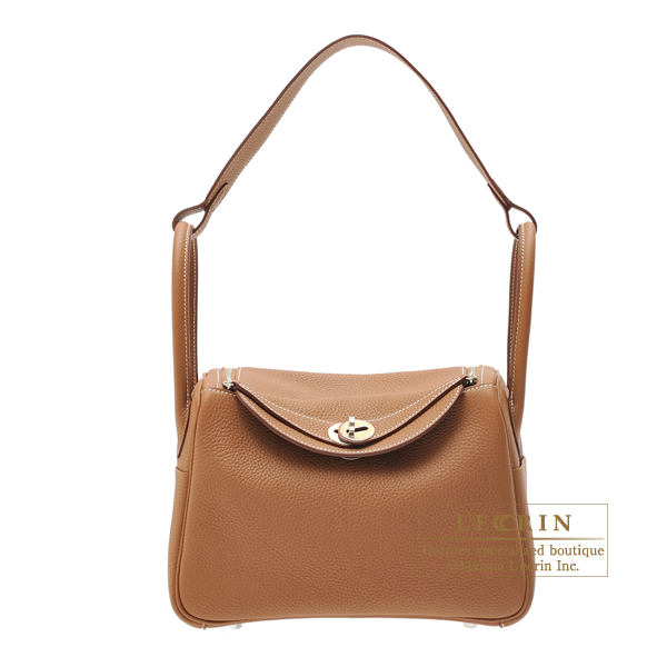 Hermes Lindy bag 26 Gold Clemence leather Silver hardware