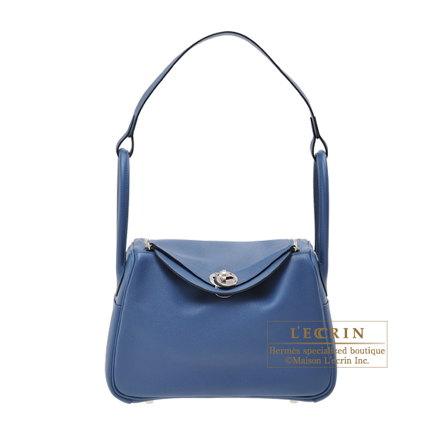 Hermes Lindy bag 26 Blue agate Evercolor leather Silver hardware