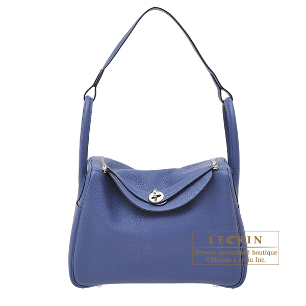 Hermes Lindy bag 30 Blue brighton Clemence leather Silver hardware