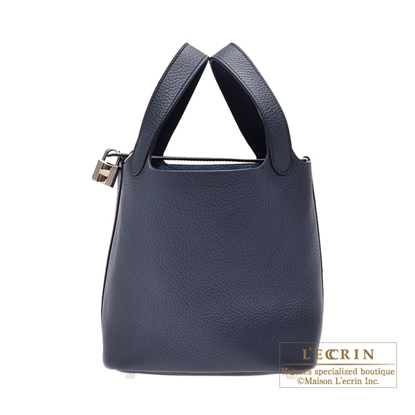 Hermes Picotin Lock bag PM Blue obscurs Clemence leather Silver hardware