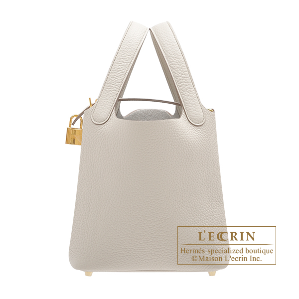 Hermes Picotin Lock bag PM Beton Clemence leather Gold hardware