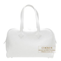 Hermes Victoria II 35 tote bag White Clemence leather Silver hardware