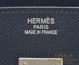 エルメス バーキン35 ブルーインディゴ ヴォーエプソン シルバー金具