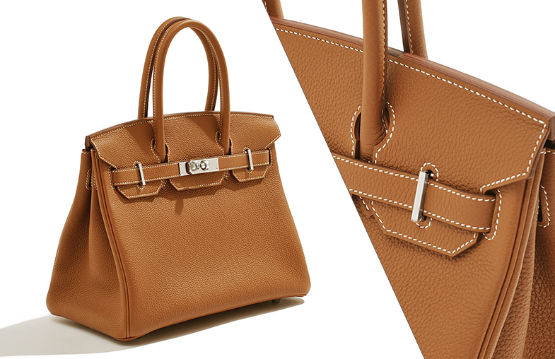 """""""White stitching"""" that distinguished the Hermès Gold"""